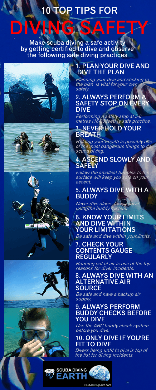 10 Top Safety Tips For Scuba Diving (Making Scuba Safe)