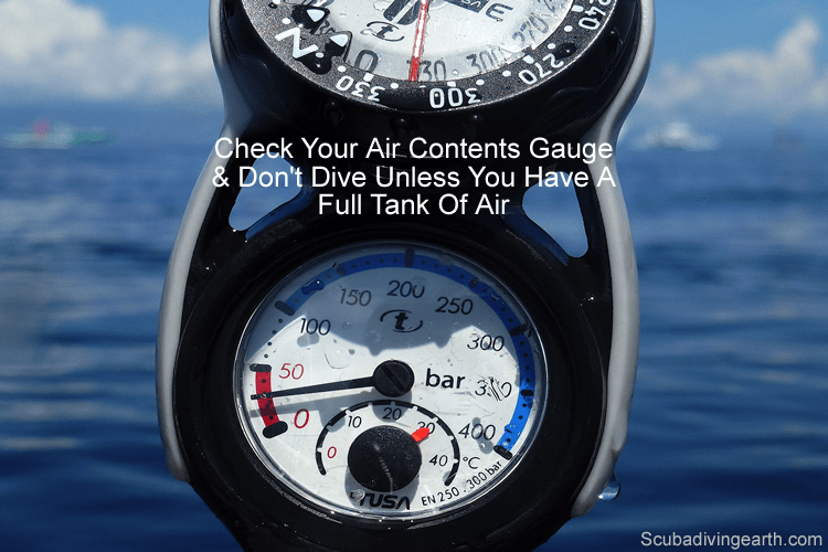 Check your air contents gauge - Dive time extending tip