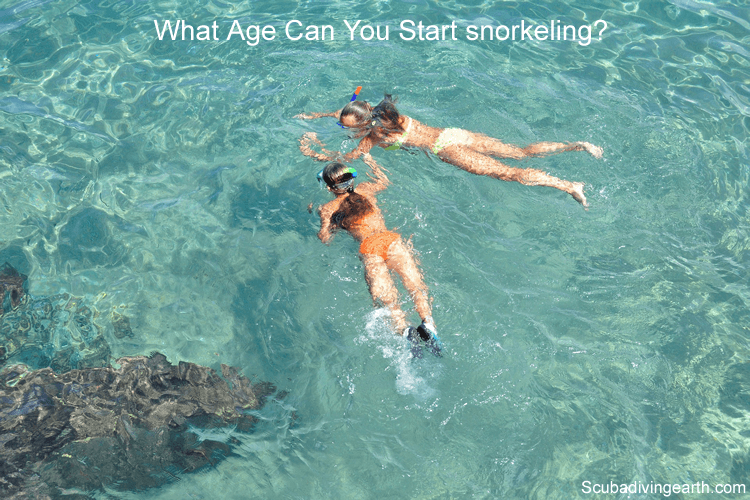 From what age can you start using the snorkel mask or snorkeling