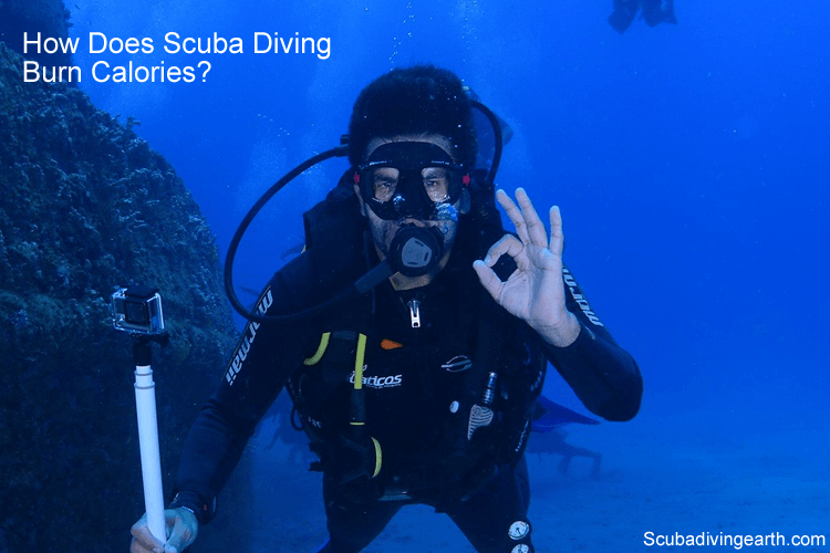 How does scuba diving burn calories?