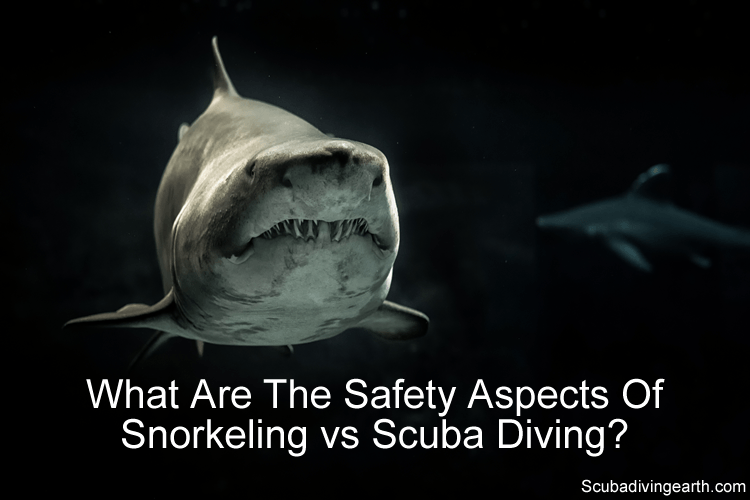 What are the safety aspects of snorkeling vs scuba diving