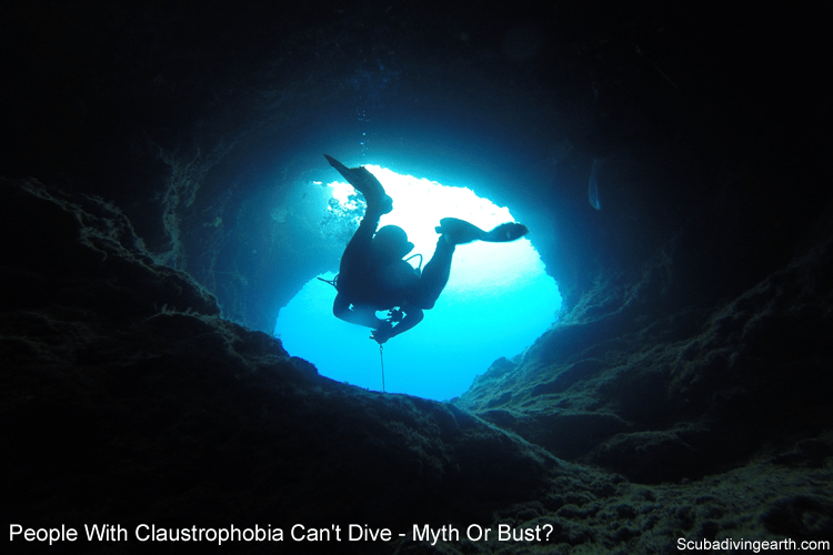 People with claustrophobia can't dive - myth or bust