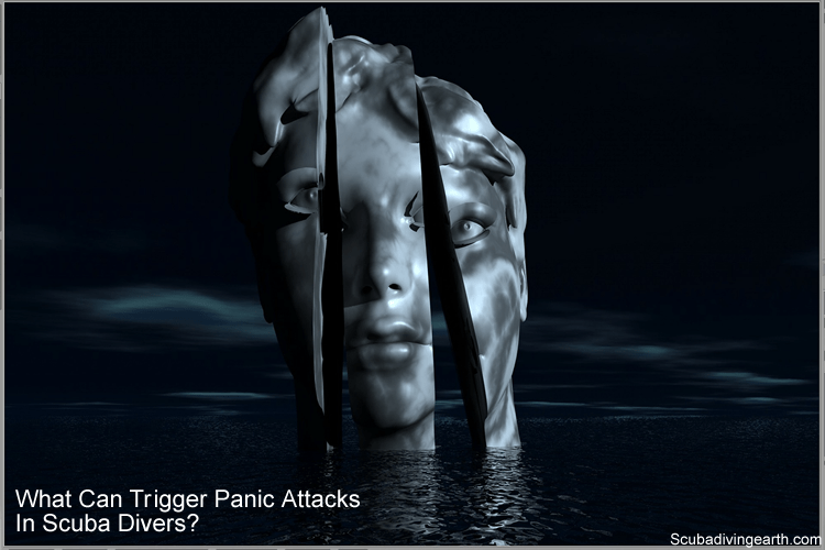 What can trigger panic attacks in scuba divers