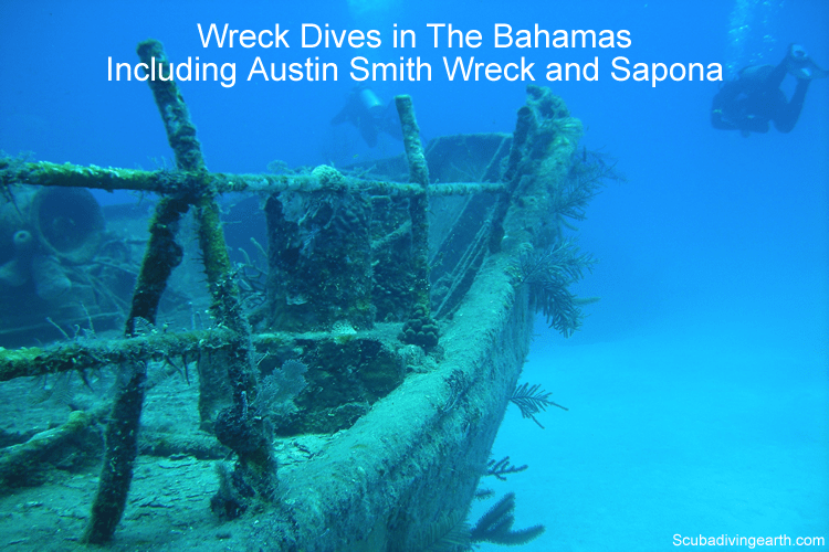 Wreck Dives in The Bahamas from a liveaboard dive boat