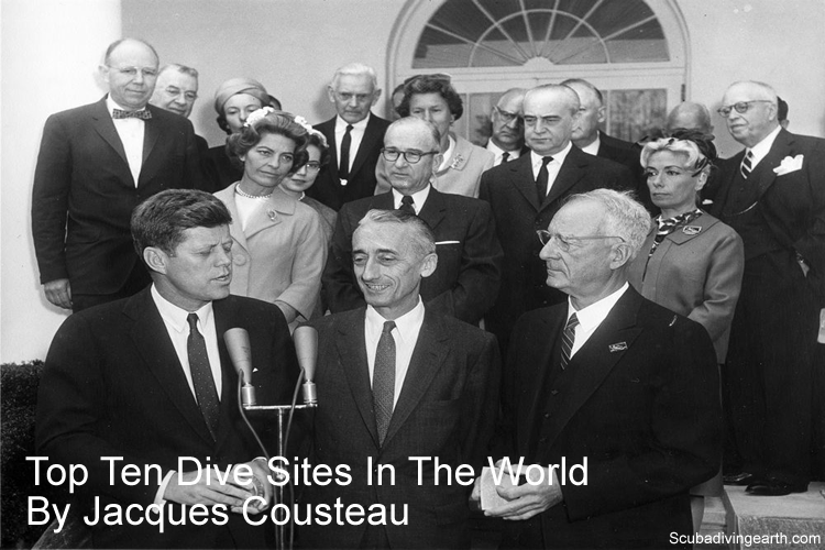 Top ten dive sites in the world by Jacques Cousteau