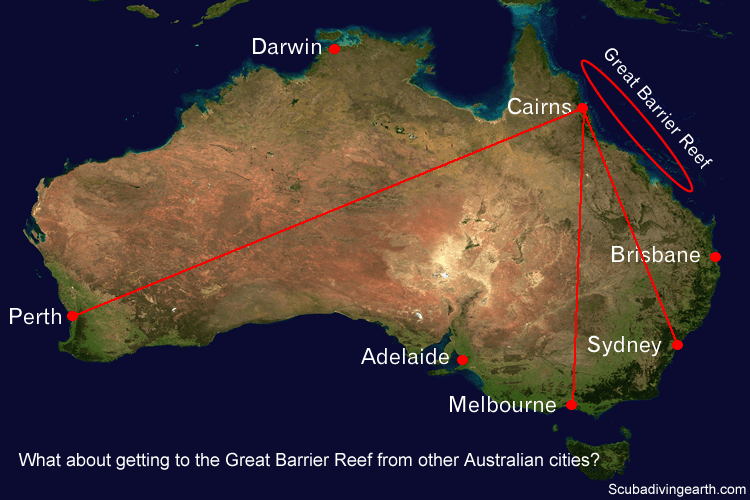 What about getting to the Great Barrier Reef from other Australian cities