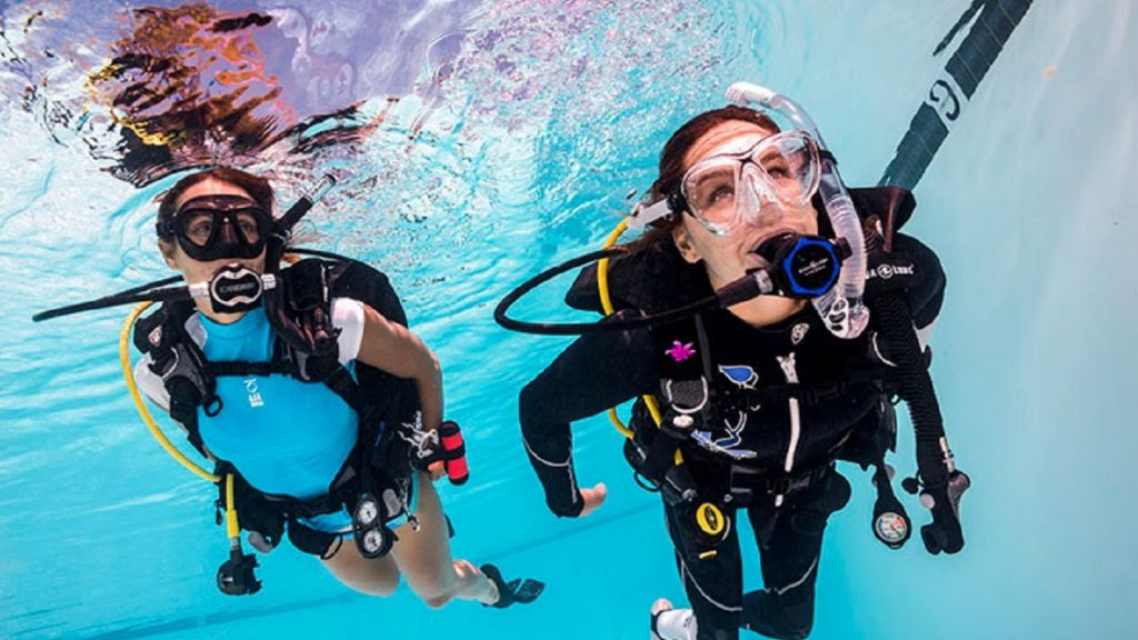 Adaptive Support Diver certification course for scuba divers with a disability