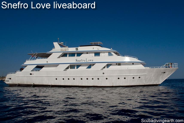 Book a 4 day liveaboard Red Sea Egypt - Snefro Love liveaboard