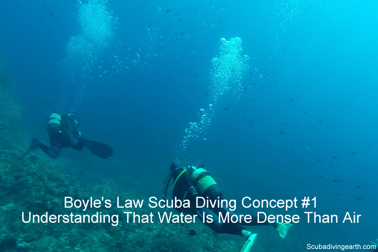 Boyle's Law scuba diving concept #1 - Understanding that water is more dense than air