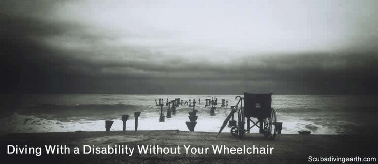 Diving with a disability without a wheelchair