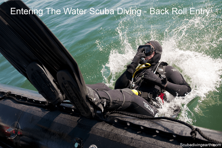Entering The Water Scuba Diving - Back Roll Entry