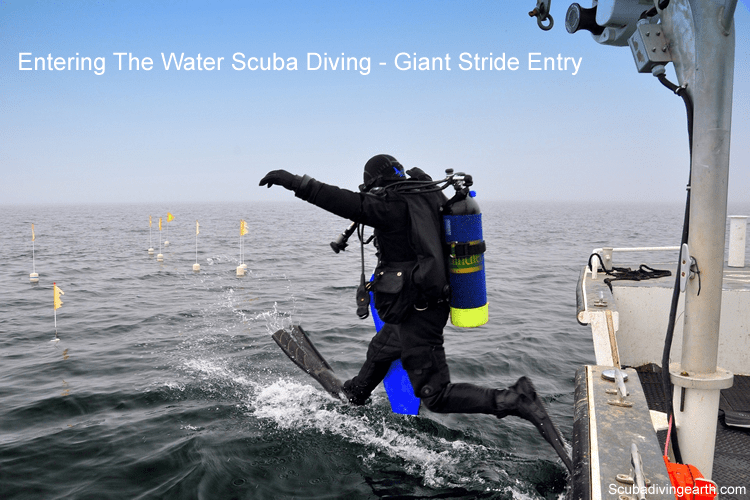 Entering The Water Scuba Diving - Giant Stride Entry