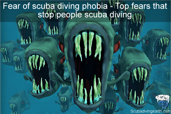 Fear of scuba diving phobia - Top fears that stop people scuba diving