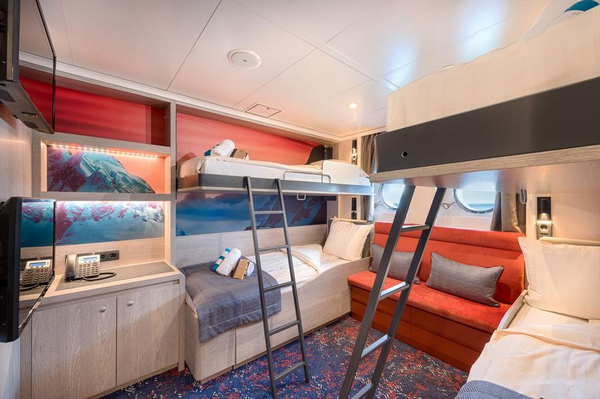 Quad cabin for multiple travellers happy to share