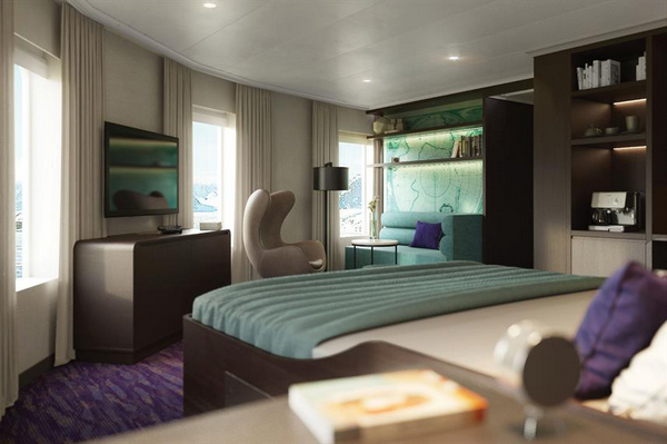 Cabin suite with seating area