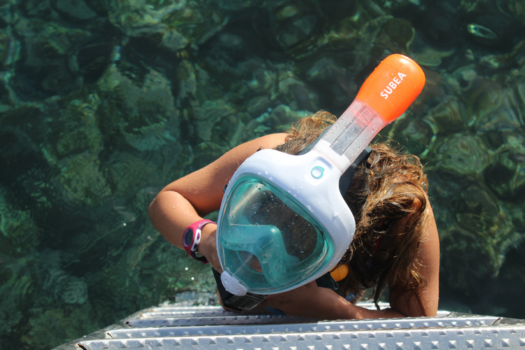 Full face snorkel mask how does it work
