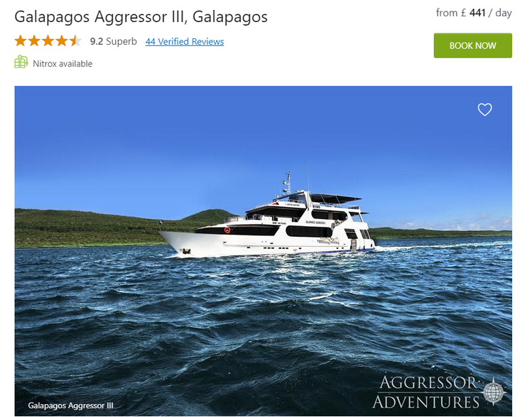 Galapagos Aggressor III Liveaboard overview