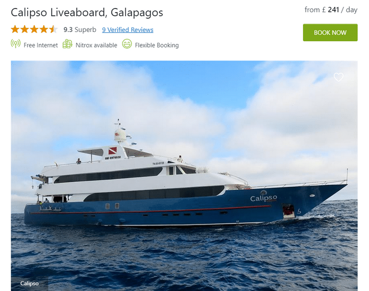Galapagos Calipso Liveaboard overview