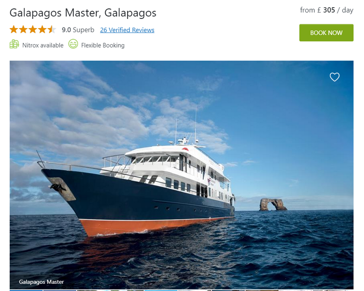 Galapagos Master Liveaboard overview