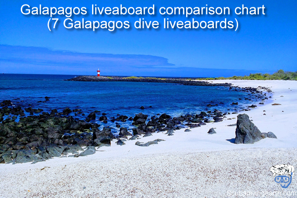 Galapagos liveaboard comparison chart - 7 Galapagos dive liveaboards