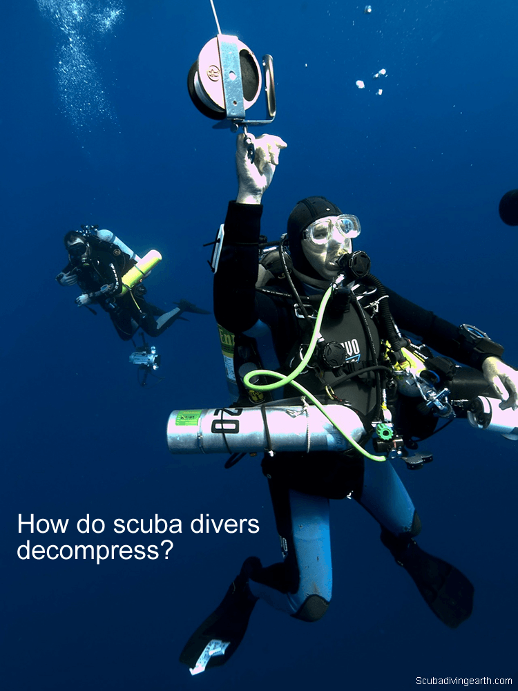 How do scuba divers decompress