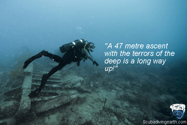 How does a diver feel when narked - nitrogen narcosis 47 meters down