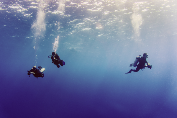 How much wind is too much for diving is affect by the depth of the dive