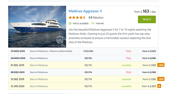 How to book a last minute Maldives liveaboard cruise