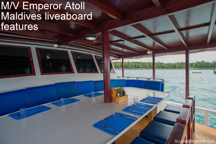 M/V Emperor Atoll Maldives liveaboard features