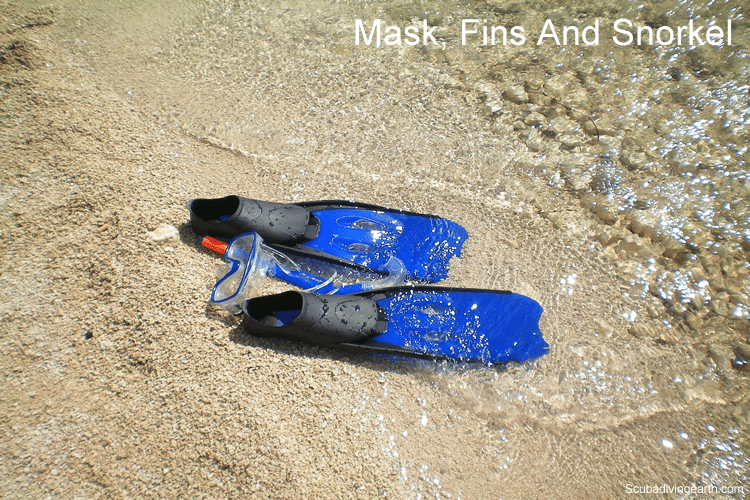 Mask fins and snorkel