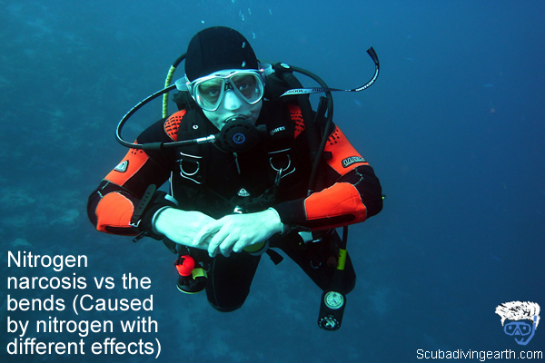 Nitrogen narcosis vs the bends - Caused by nitrogen with different effects