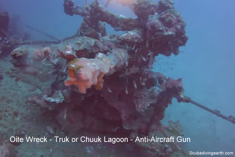 Kamikaze Class Destroyer Oite wreck - Top Truk Lagoon Wrecks