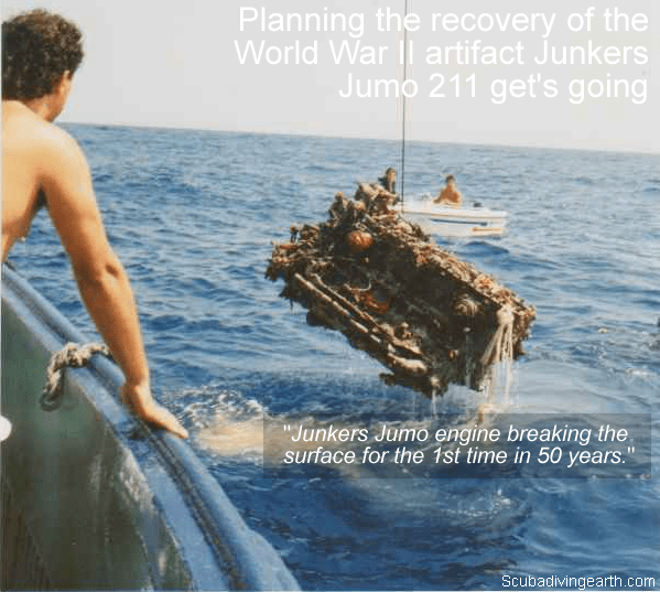 Planning the recovery of the World War II artifact Junkers Jumo 211 engine