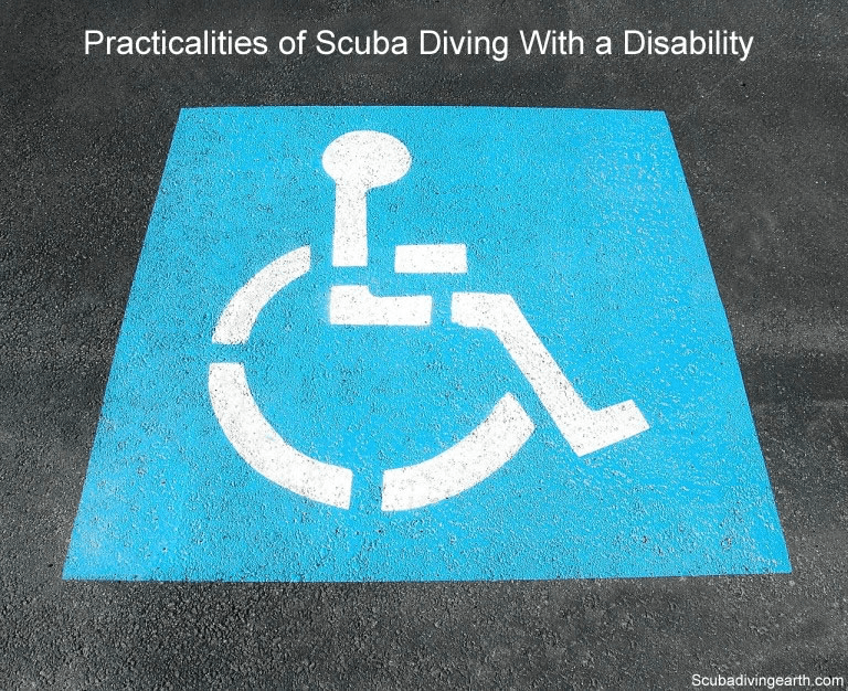 Practicalities of scuba diving with a disability