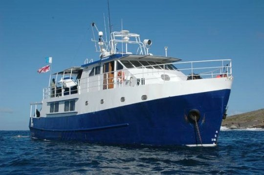 Princess II liveaboard Port Lincoln Australia for trips to cage dive with great white sharks