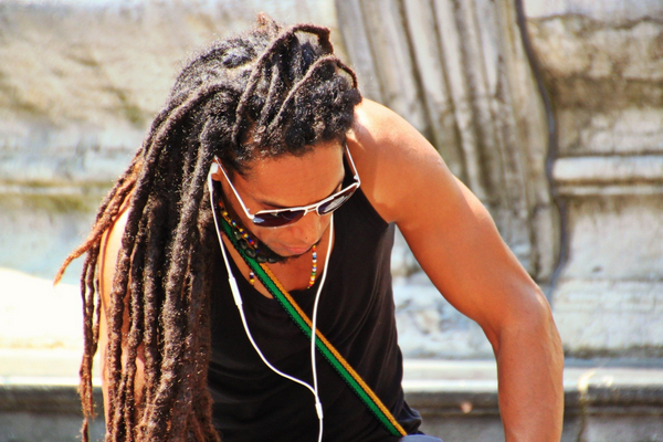 Rasta Braids or dreadlocks for long hair when scuba diving