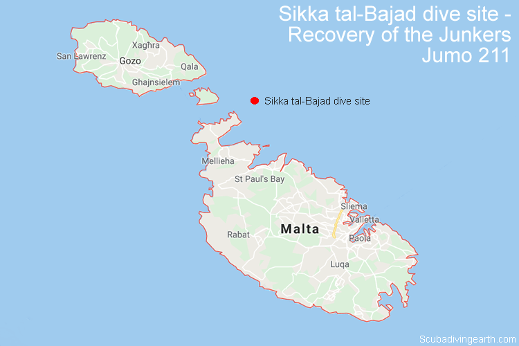 Recovery of the Junkers Jumo 211 - Sikka tal-Bajad dive site