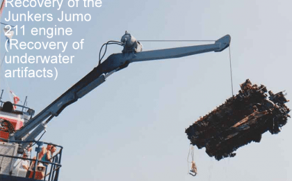 Recovery of the Junkers Jumo 211 engine (Recovery of underwater artifacts)