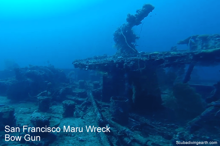 San Francisco Maru Dive Wreck Bow Gun