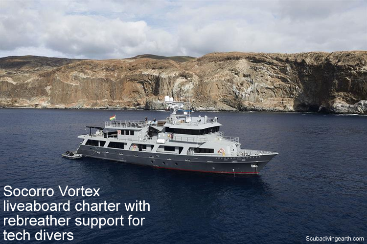 Socorro Vortex liveaboard charter with rebreather support for tech divers