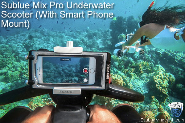 Sublue Mix Pro Underwater Scooter With Smart Phone Mount