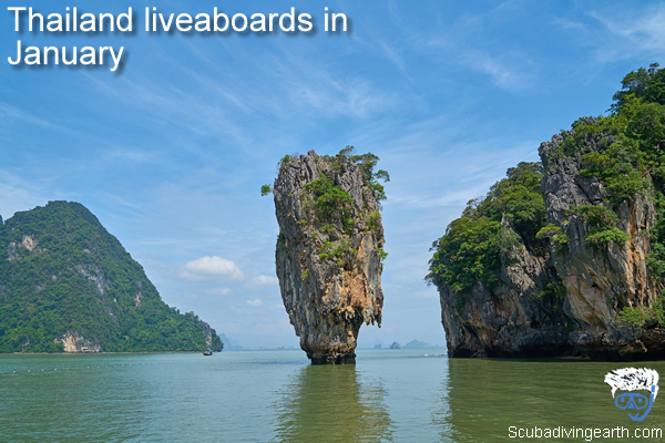 Thailand liveaboards in January