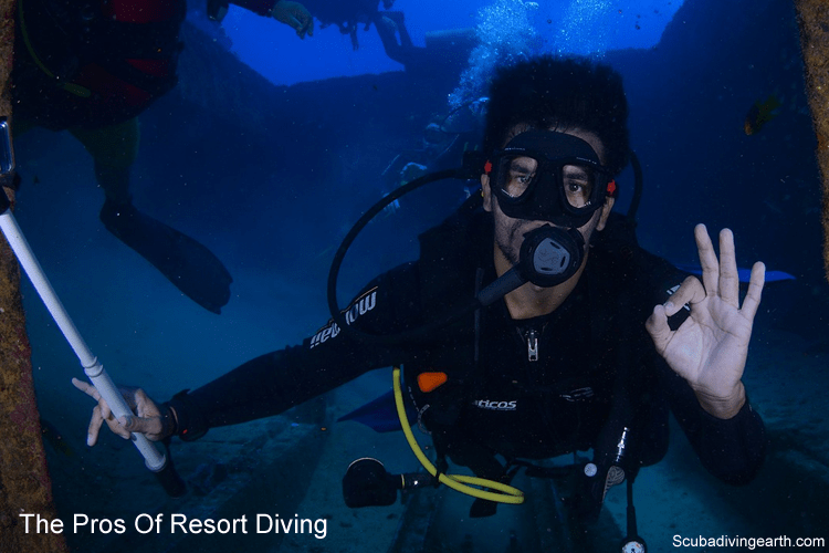 The pros of resort diving