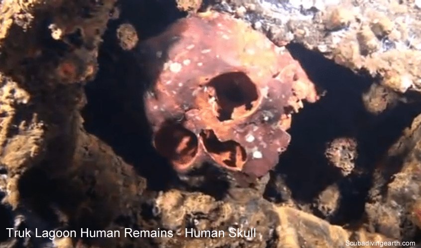 Truk Lagoon ghostly human remains