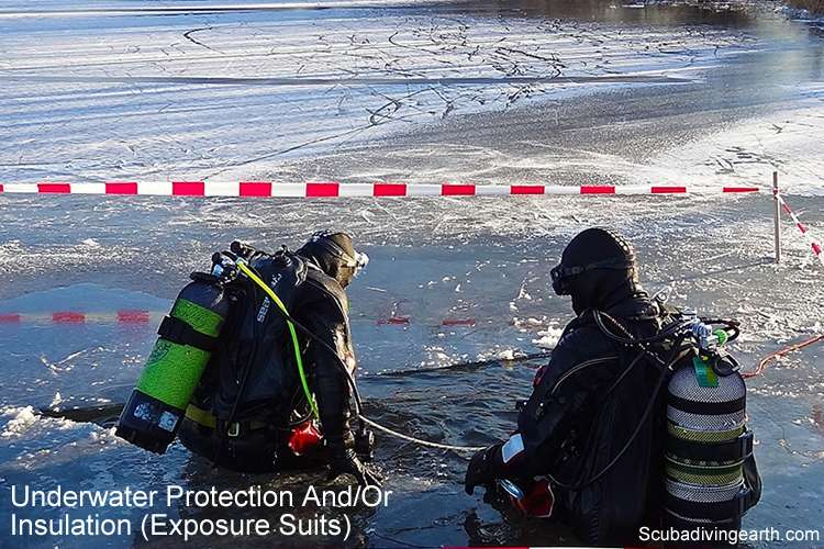 Underwater protection and insulation exposure suits