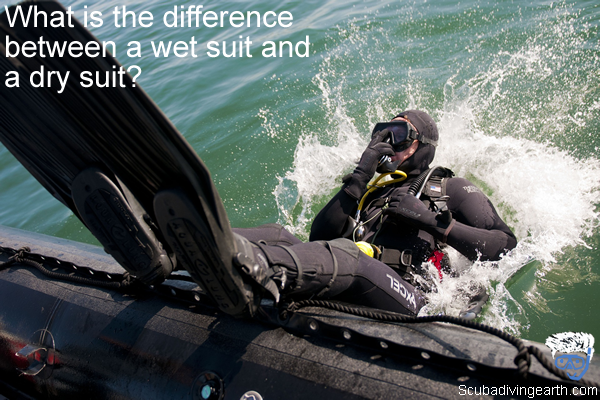 What is the difference between a wet suit and a dry suit large