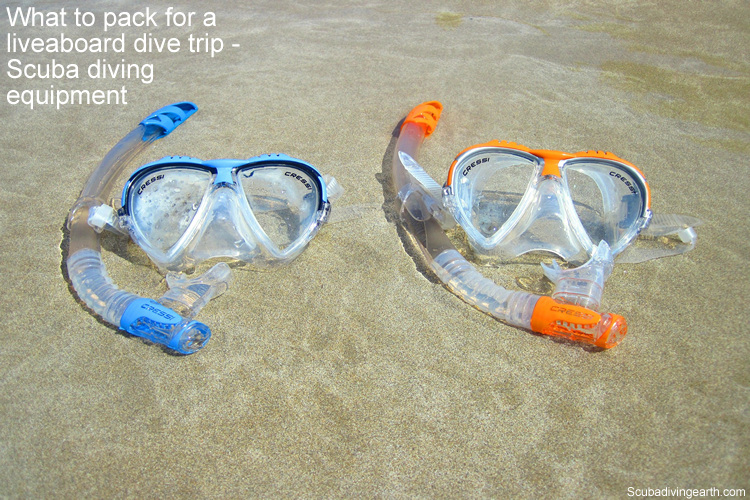 What to pack for a liveaboard dive trip - Scuba diving equipment