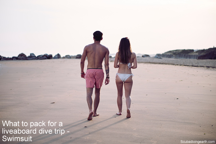 What to pack for a liveaboard dive trip - Swimsuit