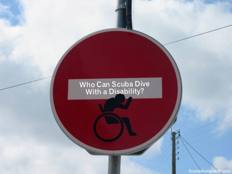Who can scuba dive with a disability