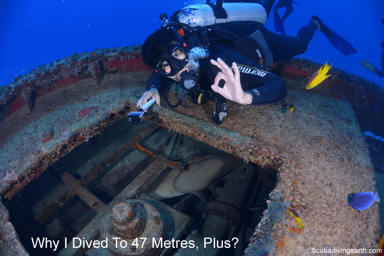 Why I dived to 47 metres - plus